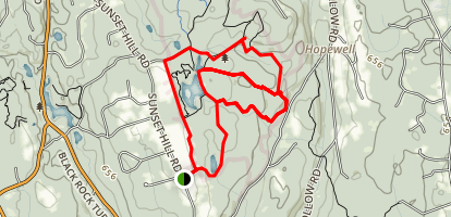 Huntington State Park White Blue and Green Loop Trail Map