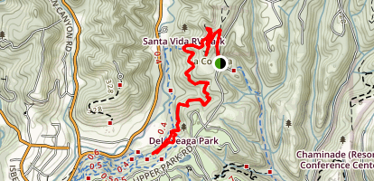 La Corona Trail Map