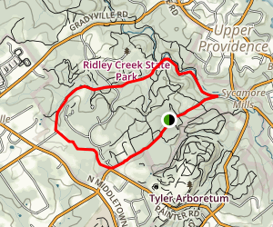 Ridley Creek Park Loop Trail Map