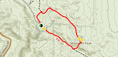 Mastodon Peak Loop Trail Map