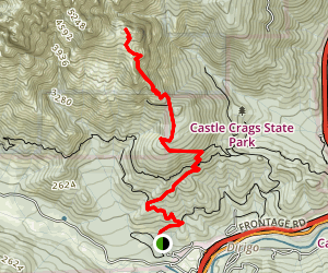 Castle Crags Trail Map