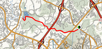 Mallard Creek Greenway Trail Map