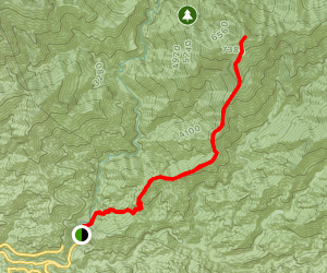 Heaton Flat Trail to Iron Mountain Map