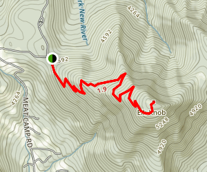 Elk Knob Summit Trail Map