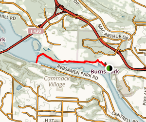 Burns Park Big Dam Bridge Trail Map