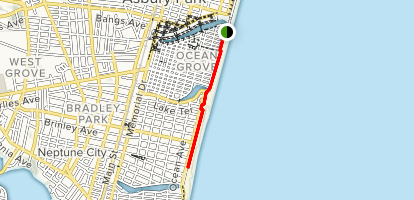Ocean Ave Boardwalk Trail Map