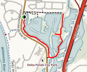 Delta Ponds Trail Map