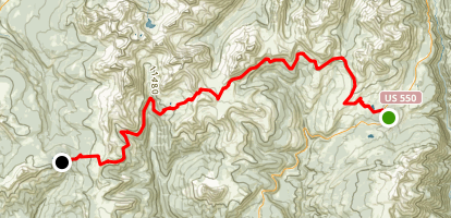 Colorado Trail: Segment 25 Map