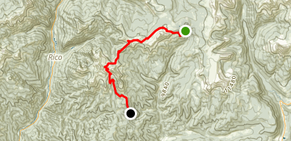 Colorado Trail : Segment 26 Map