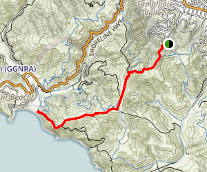 Coyote Ridge Trail to Muir Beach Map