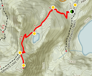 Granite Lake & Maggie's Peaks Map