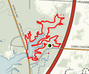 Alum Creek State Park Mountain Bike Trail - Phase 1 Map