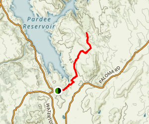 The Pardee Section of the Mokelumne Coast to Crest Trail Map