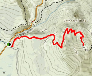 Bunsen Peak Map