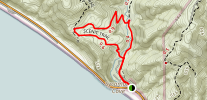 Scenic and Overlook Trails Loop Map