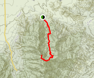 Florida Canyon to Mc Cleary Peak Trail Map