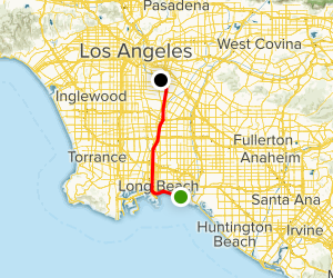 Shoreline and Los Angeles River Bike Path Map