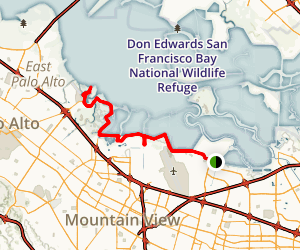 san francisco bay trail sunnyvale to sand point map