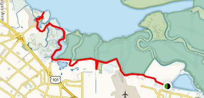 San Francisco Bay Trail - Sunnyvale to Sand Point Map