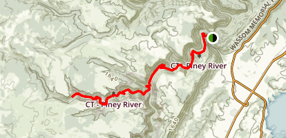 Piney River and Twin Rocks Nature Trails Map