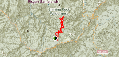 Shining Rock Wilderness Loop via Art Loeb Trail Map