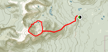 Katahdin Peak Knife Edge Trail Map