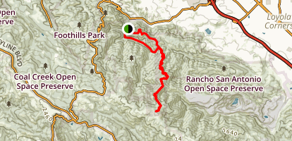 Creek Trail to Black Mountain Loop Map