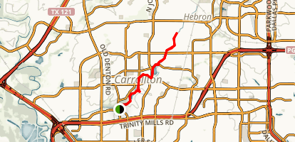 Carrollton Nob Hill Greenbelt - Blue Trail Map
