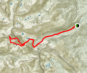 Crestone Needle Trail Map