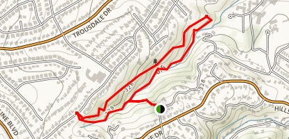 Mills Canyon Nature Area Trails Map