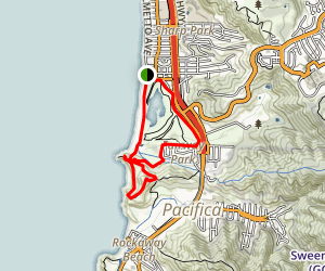 Pacifica Beaches - San Mateo Beaches and Coastal Trail Map