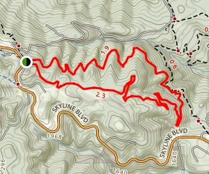 Alambique Trail to Skyline Trail Loop Map