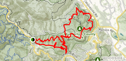 Skyline to Alambique Loop Map