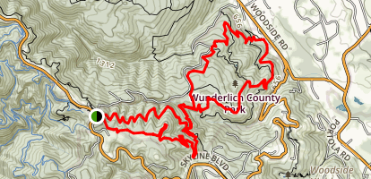 Skyline to Woodside Figure 8 Map