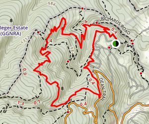 Crystal Springs & Dean Trails Map