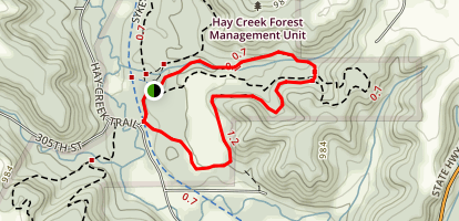 Hay Creek Unit, R.J. Dorer Memorial Hardwood State Forest Map