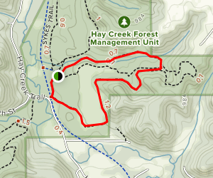 Hay Creek Cross Country Trail Map