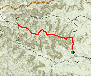 Haynes Ridge Overlook Trail Map