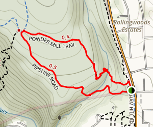 Powder Mill Fire Road Trail Map
