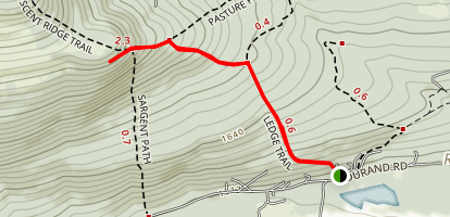Lookout Ledge Trail Map