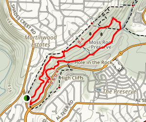 Moss Rock Preserve Trail Map