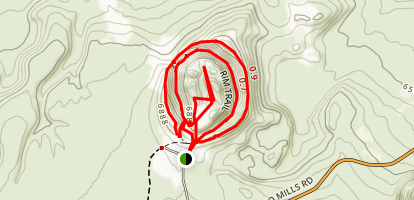 Panum Crater Trail Map