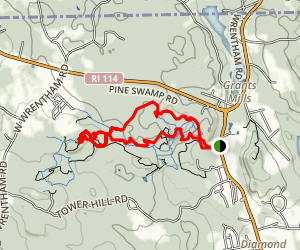 Diamond Hill Trail Map