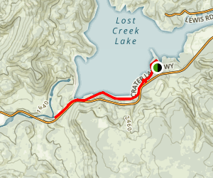 Lost Creek Lake Trail Map