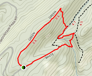 Green Trail (Peavine Falls Trail) Map