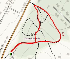 Carmel Woods Trail Map