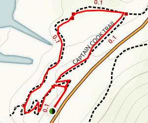 Captain Cook Trail Map