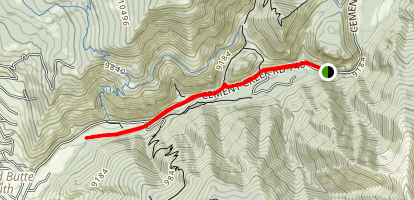 Lower Cement Creek Trail Map