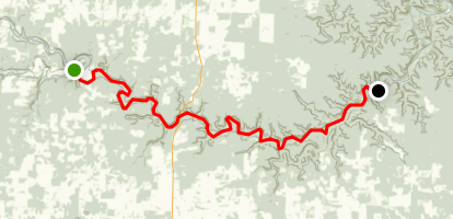 Jack's Fork River Trail Map