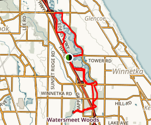 Skokie Lagoon Trail Map